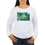 Kazakhstan Flag Women's Long Sleeve T-Shirt