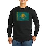 Kazakhstan Flag Long Sleeve Dark T-Shirt