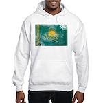 Kazakhstan Flag Hooded Sweatshirt