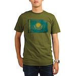 Kazakhstan Flag Organic Men's T-Shirt (dark)