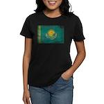 Kazakhstan Flag Women's Dark T-Shirt