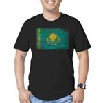 Kazakhstan Flag Men's Fitted T-Shirt (dark)