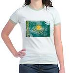 Kazakhstan Flag Jr. Ringer T-Shirt