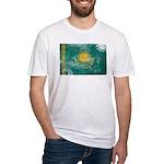 Kazakhstan Flag Fitted T-Shirt