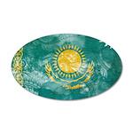 Kazakhstan Flag 22x14 Oval Wall Peel