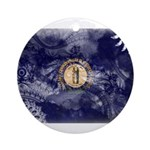 Kentucky Flag Ornament (Round)