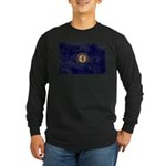 Kentucky Flag Long Sleeve Dark T-Shirt