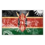 Kenya Flag Sticker (Rectangle 50 pk)