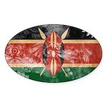 Kenya Flag Sticker (Oval 10 pk)