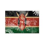 Kenya Flag Rectangle Magnet (100 pack)