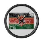Kenya Flag Large Wall Clock