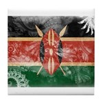 Kenya Flag Tile Coaster