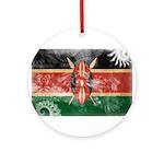 Kenya Flag Ornament (Round)