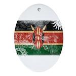 Kenya Flag Ornament (Oval)