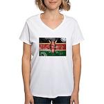 Kenya Flag Women's V-Neck T-Shirt