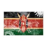 Kenya Flag 38.5 x 24.5 Wall Peel