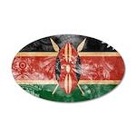 Kenya Flag 38.5 x 24.5 Oval Wall Peel