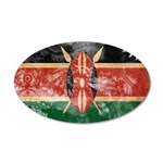 Kenya Flag 22x14 Oval Wall Peel