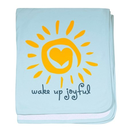 Wake Up Joyful baby blanket