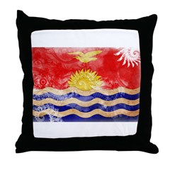 Kiribati Flag Throw Pillow