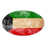 Kuwait Flag Sticker (Oval)