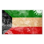 Kuwait Flag Sticker (Rectangle)