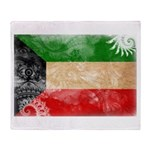 Kuwait Flag Throw Blanket