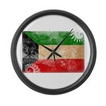 Kuwait Flag Large Wall Clock