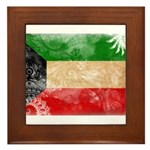 Kuwait Flag Framed Tile