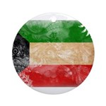 Kuwait Flag Ornament (Round)