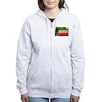 Kuwait Flag Women's Zip Hoodie