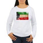 Kuwait Flag Women's Long Sleeve T-Shirt