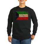 Kuwait Flag Long Sleeve Dark T-Shirt