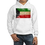 Kuwait Flag Hooded Sweatshirt