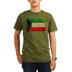 Kuwait Flag Organic Men's T-Shirt (dark)