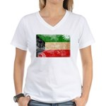 Kuwait Flag Women's V-Neck T-Shirt