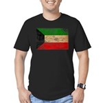 Kuwait Flag Men's Fitted T-Shirt (dark)