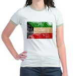 Kuwait Flag Jr. Ringer T-Shirt