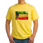 Kuwait Flag Yellow T-Shirt