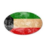 Kuwait Flag 38.5 x 24.5 Oval Wall Peel