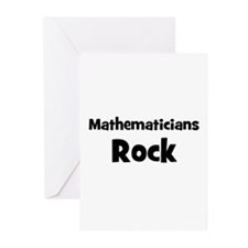 MATHEMATICIANS  Rock Greeting Cards (Pk of 10)