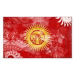 Kyrgyzstan Flag Sticker (Rectangle 50 pk)