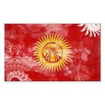 Kyrgyzstan Flag Sticker (Rectangle 10 pk)
