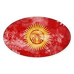 Kyrgyzstan Flag Sticker (Oval 50 pk)