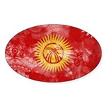 Kyrgyzstan Flag Sticker (Oval 10 pk)