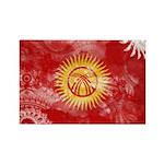 Kyrgyzstan Flag Rectangle Magnet (10 pack)