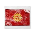 Kyrgyzstan Flag Throw Blanket