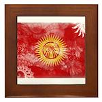 Kyrgyzstan Flag Framed Tile