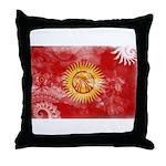 Kyrgyzstan Flag Throw Pillow