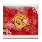 Kyrgyzstan Flag Tile Coaster